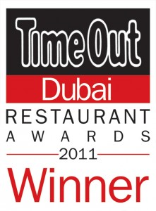 Winner of Time Out Restaurant Awards 2011