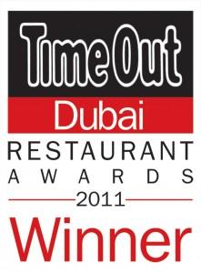 Winner of Time Out Restaurant Awards 2011