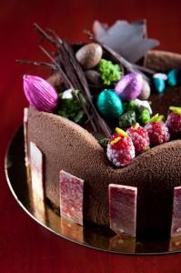 Dark Chocolate Mousse with Brownie