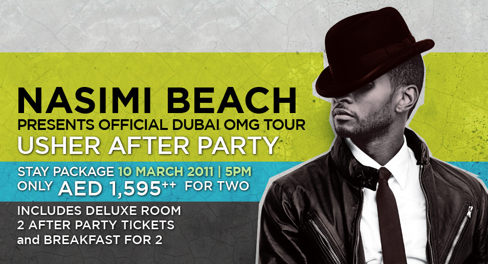 Offical Usher OMG Tour After Party at Nasimi Beach, Atlantis The Palm, Dubai