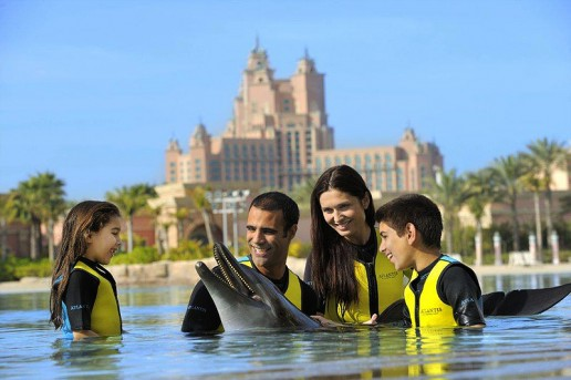 Family at Dolphin Bay, Atlantis The Palm, Dubai