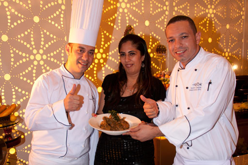 Kiran Kathpal with the Chefs