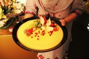 The winning dish Mango Panna Cotta