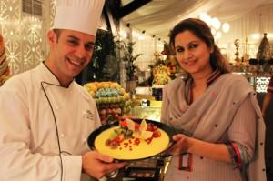 Chef Ali with Iftari Recipe competition winner Naina Shakeb