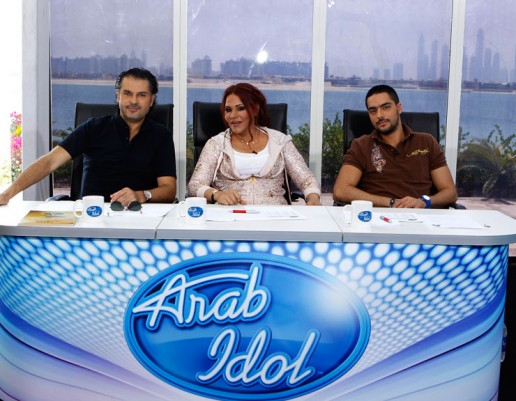 Arab Idol judges, Ragheb Alama, Hassan El Shafei and Ahlam, Atlantis the Palm