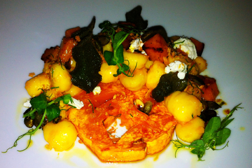Pumpkin Gnocchi with Crisp Sage, Brown Butter, Goat Cheese