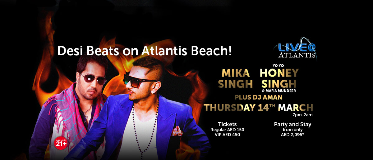 Desi Beats on the Atlantis Beach