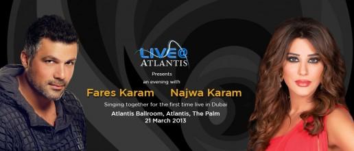 Fares Karam and Najwa Karam Live@Atlantis