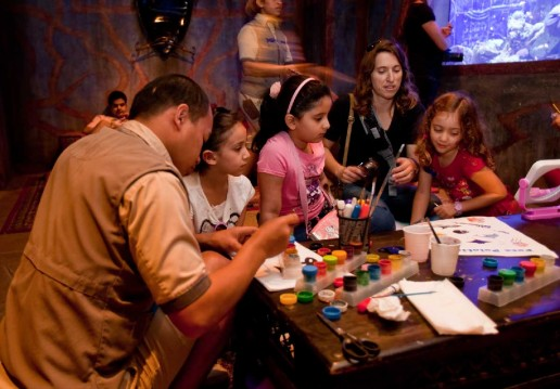 Children enjoy painting at Family Fun Day at the Lost Chambers Atlantis