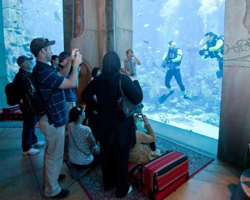 Visitors meet the Atlantis Scuba Divers at The Lost Chambers Family Fun Day at Atlantis
