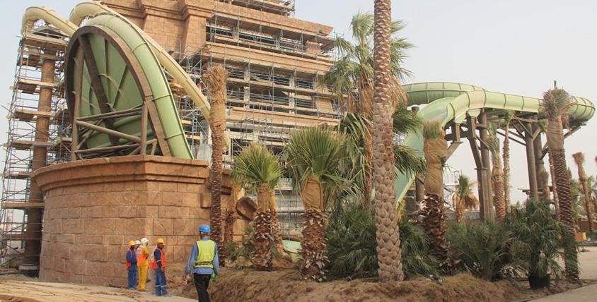 Atlantis Aquaventure waterpark Tower of Poseidon