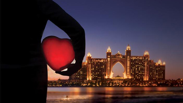 Romance is in the air at Atlantis this February, especially on Valentine's Day