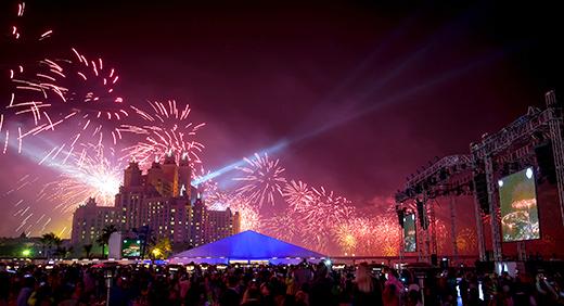 Atlantis New Years Eve Celebrations Light up the Night