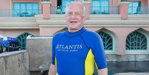 Buzz Aldrin at Atlantis new diving programs