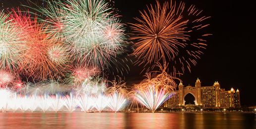 "A legendary fireworks and an unforgettable dinner  ""Under the Stars"" this New Year at Atlantis"
