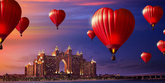 Love is in the air at Atlantis, The Palm!
