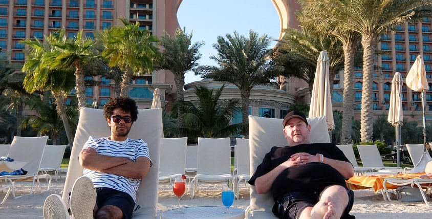 Richard Ayoade and Johnny Vegas Explore Atlantis, The Palm in Travel Man, 48 Hours in Dubai