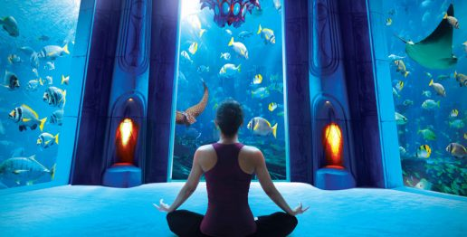 yoga-in-the-lost-chambers-aquarium-dubai