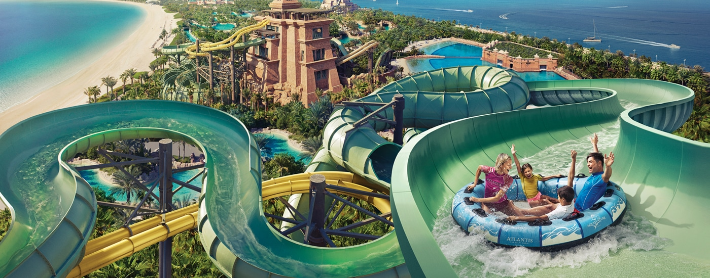 10 Facts About Water Slides And Rides at Atlantis Aquaventure Waterpark in Dubai