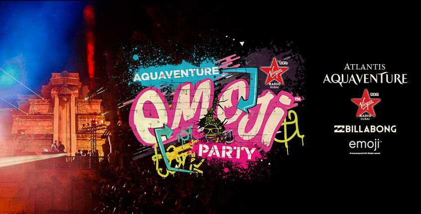Dubai's Craziest 😀 Pool Party is Back! Enjoy Aquaventure emoji™ Party at Atlantis Aquaventure