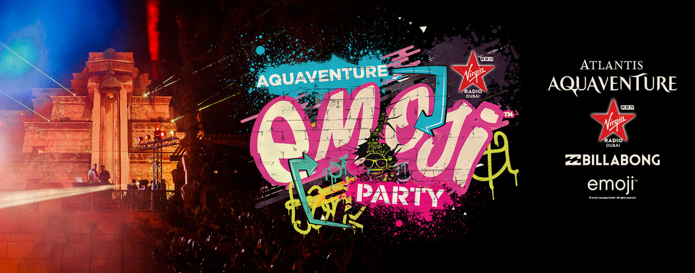 Dubai's Craziest 😀 Pool Party is Back! Enjoy Aquaventure emoji™ Party at Atlantis Aquaventure
